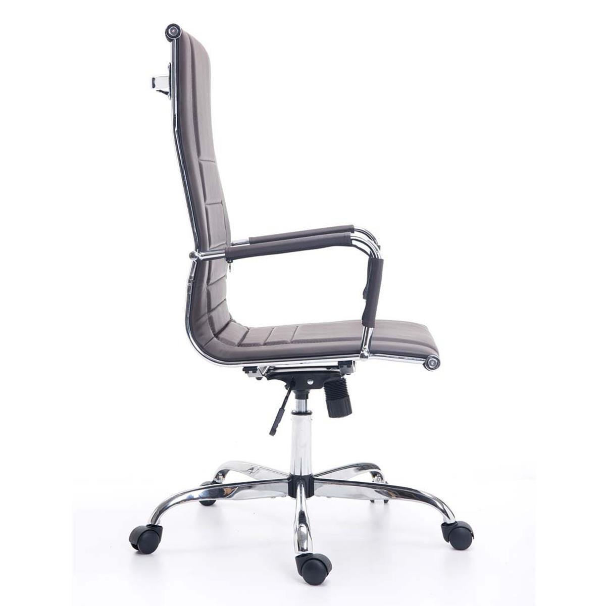 sedia per ufficio kola, struttura in metallo cromato, linee ... - Sedia Rivestimento Tessuto Caffe