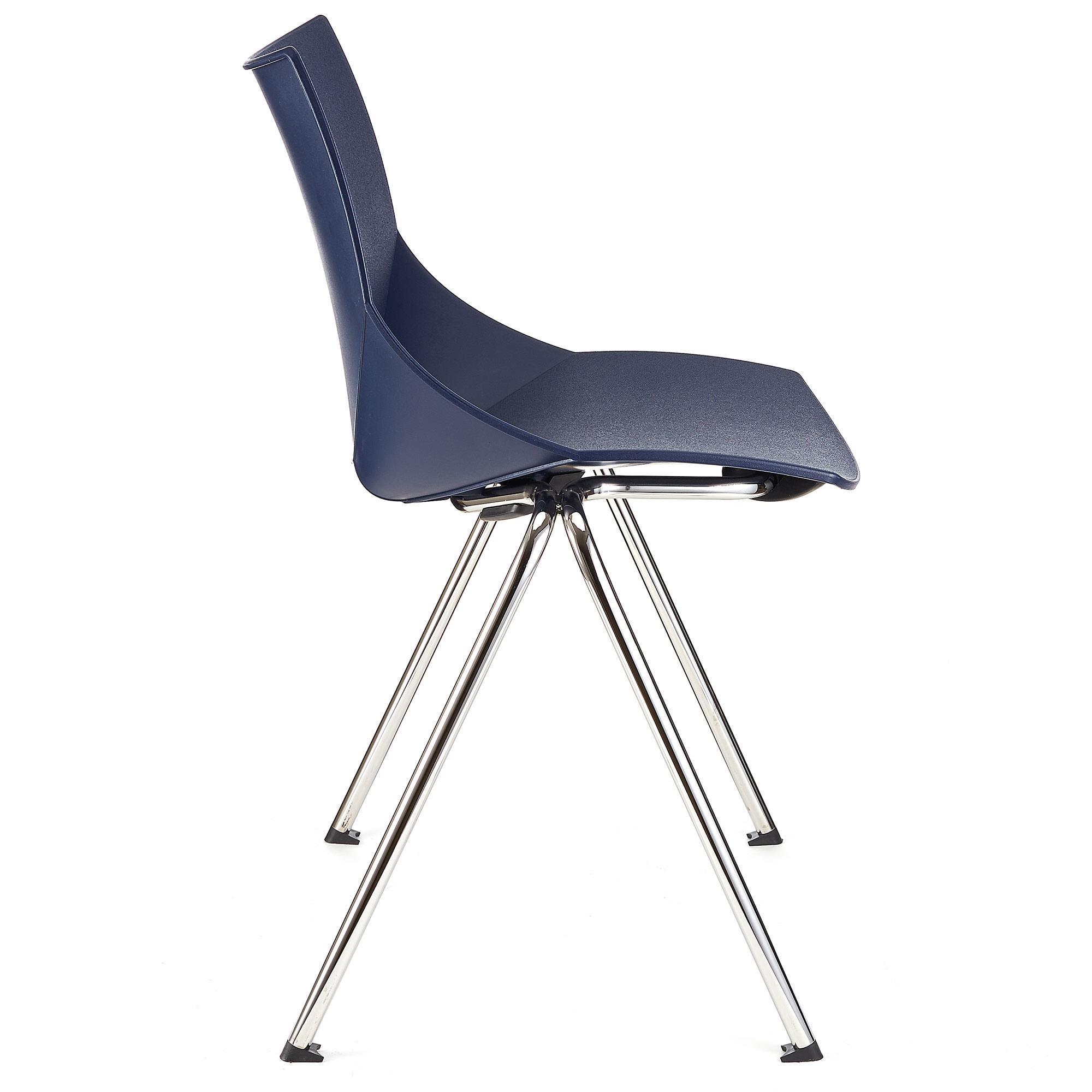 Sedia sala d 39 attesa amir impilabile colore blu sedia for Sedia per sala d attesa