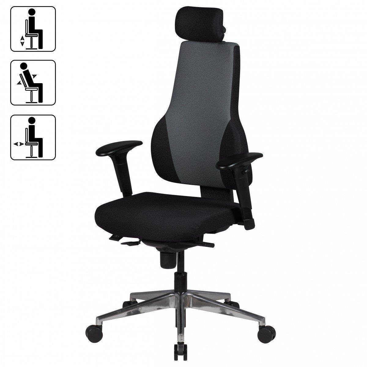 Sedia ergonomica ulisse poggiatesta e braccioli for Sedia ergonomica