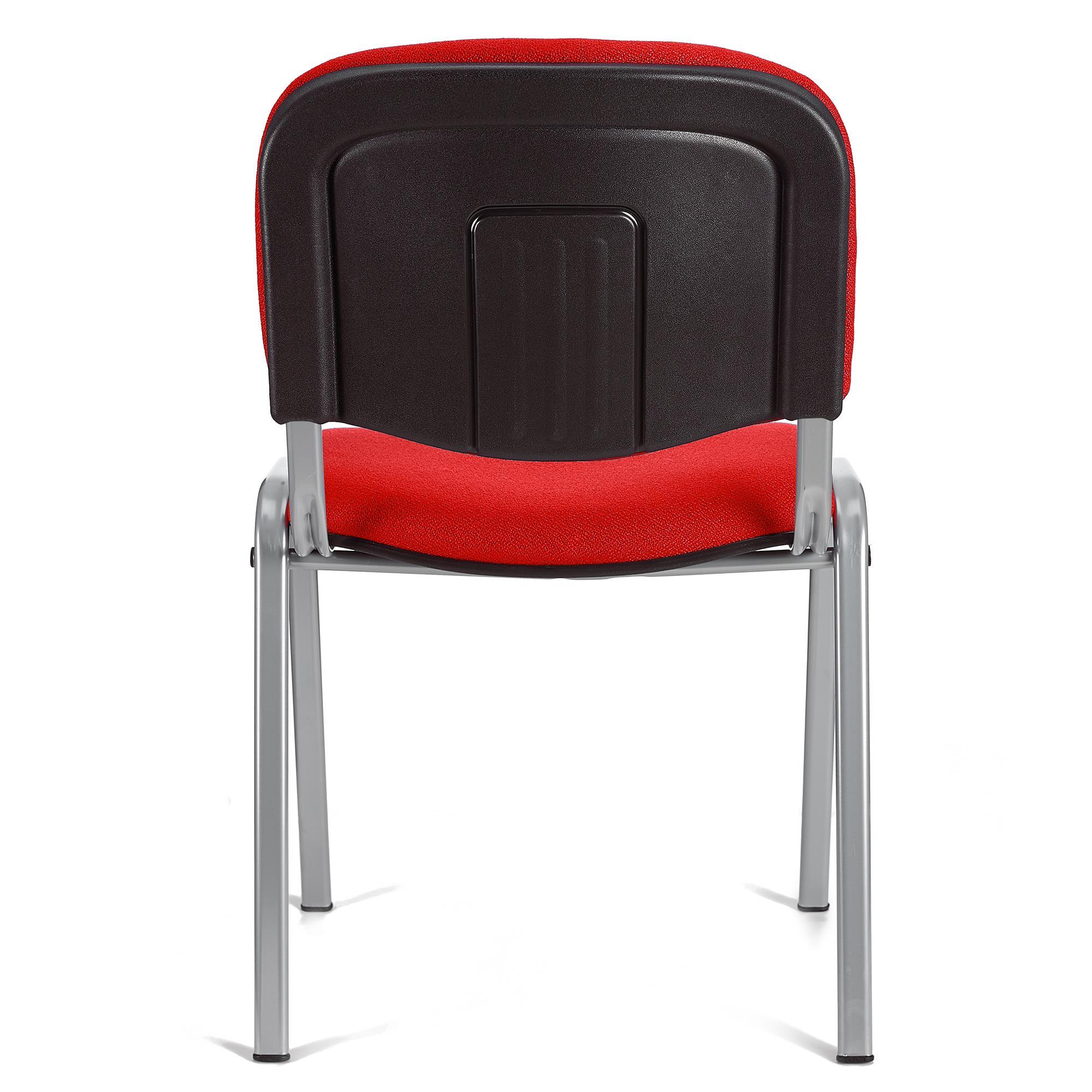 Sedia per sala conferenze MOBY BASE, colore rosso con ...