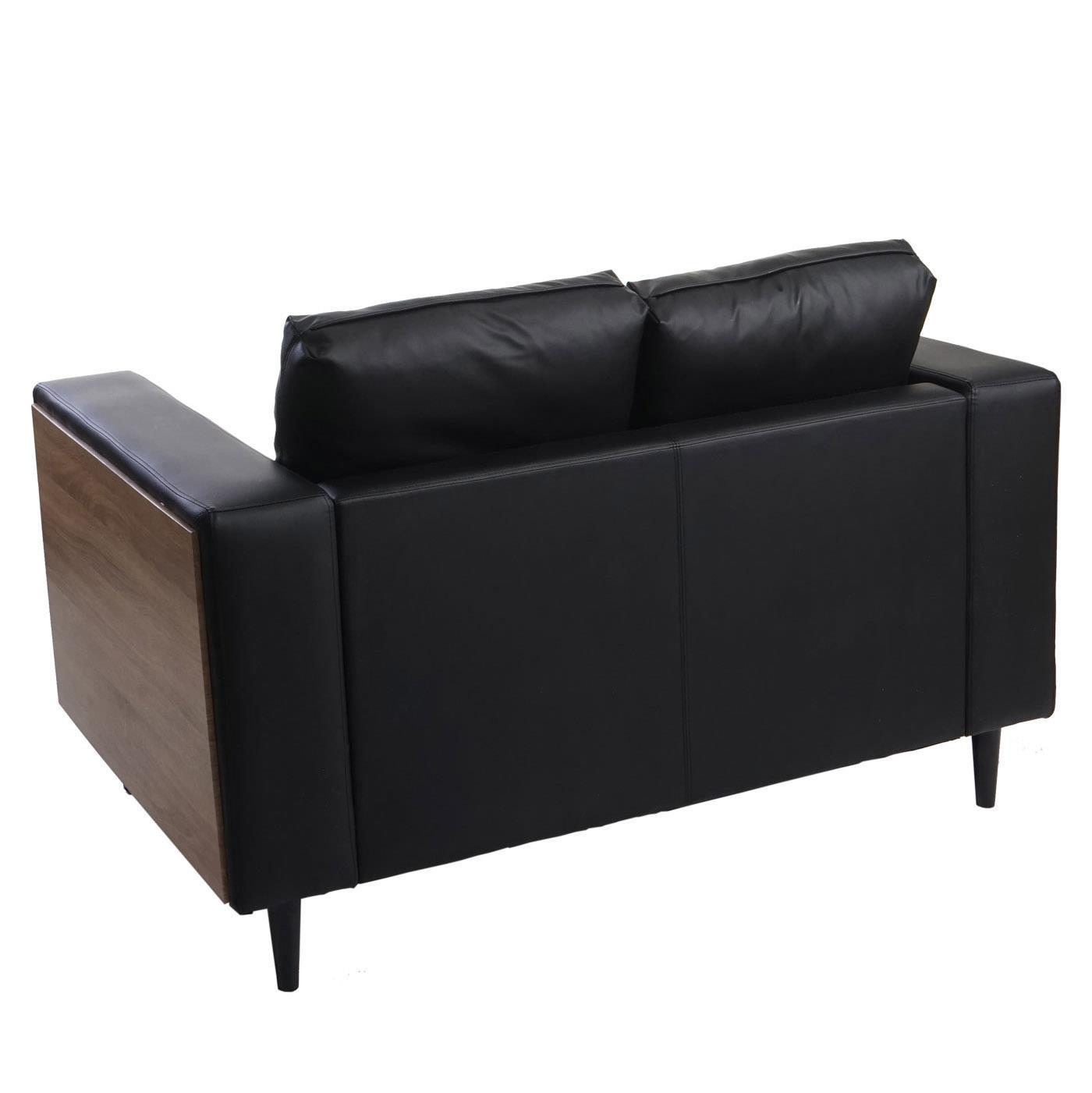 Divano a 2 posti ALEX, comoda seduta imbottita con rivestimento in ...