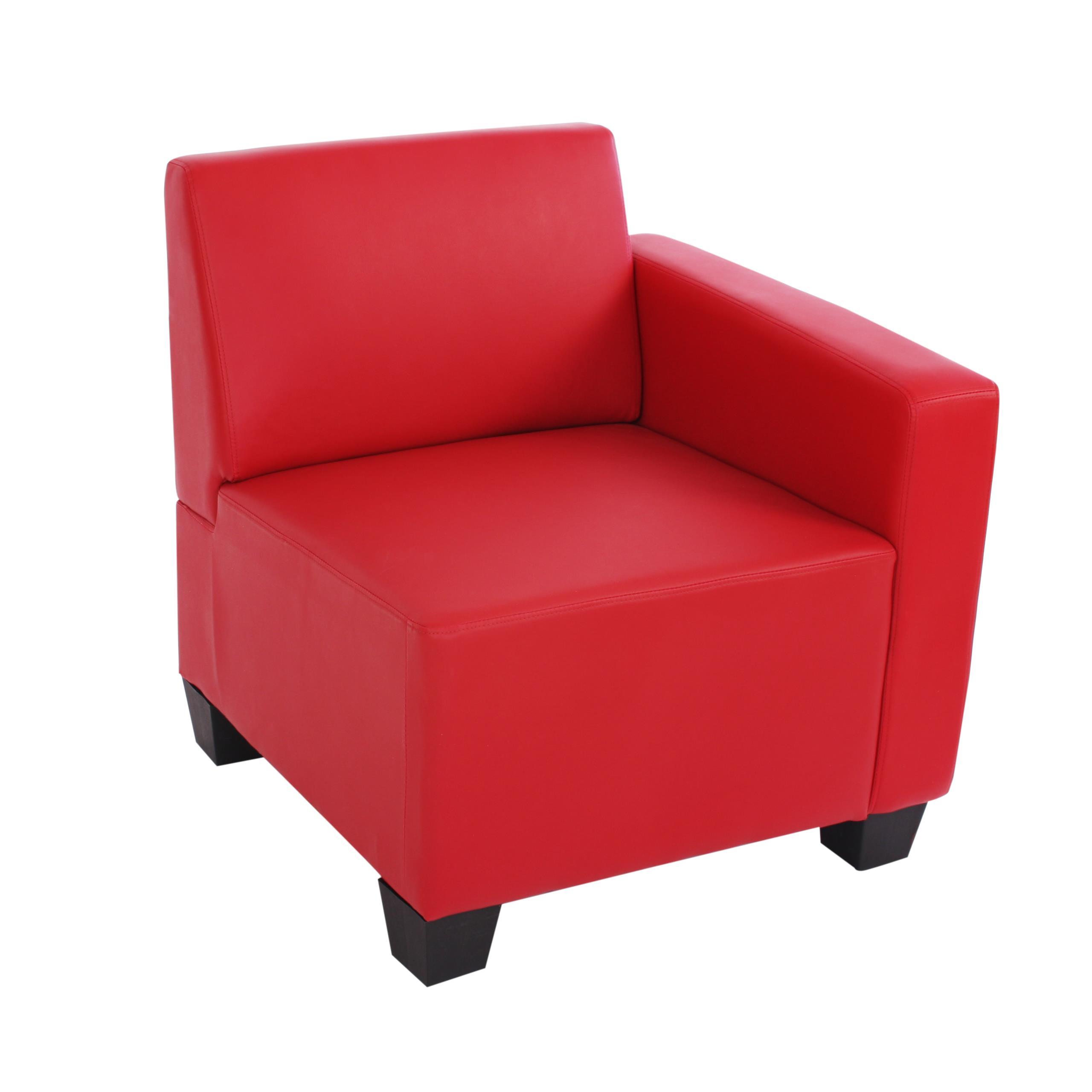 Divano modulare 2 posti lyon design moderno comodo in similpelle rossa divano modulare 2 - Divano in pelle rosso ...