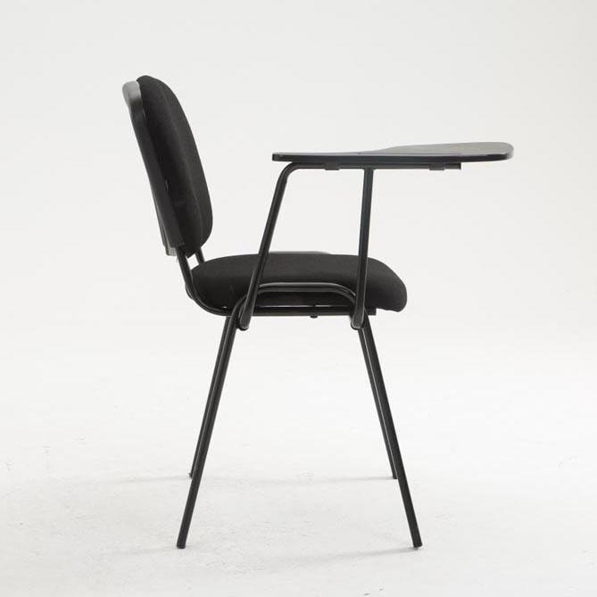 Sedia conferenze MOBY con SCRITTOIO, colore nero, gambe nere ...