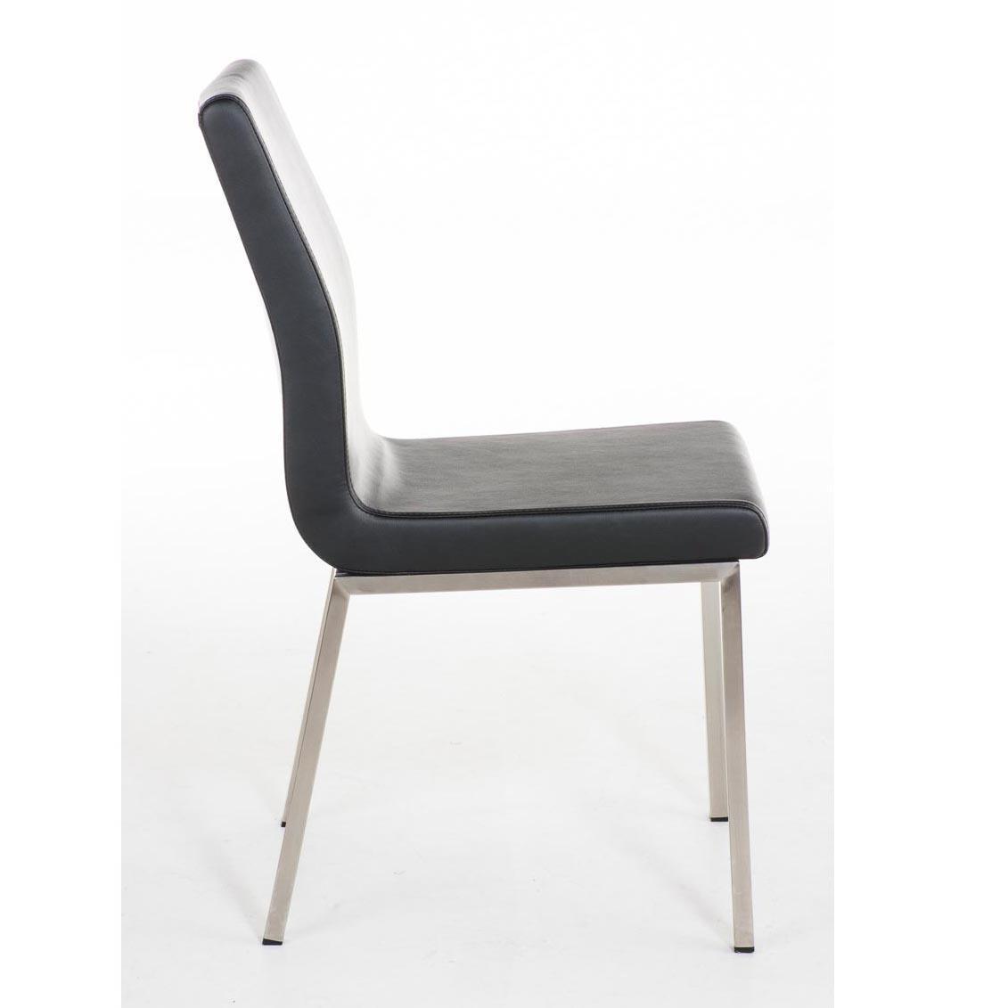 Sedia per Ospiti COLOMO, con gambe in acciaio inox e seduta ...