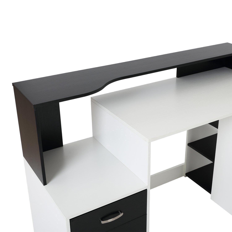 Scrivania ufficio BOTINA, con Cassetti, 140x55x92cm, Legno ...