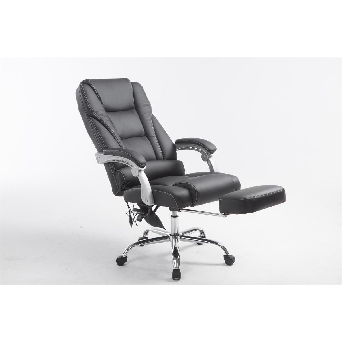 Poltrona da ufficio comodity massage poggiapiedi for Poltrona ufficio con poggiapiedi