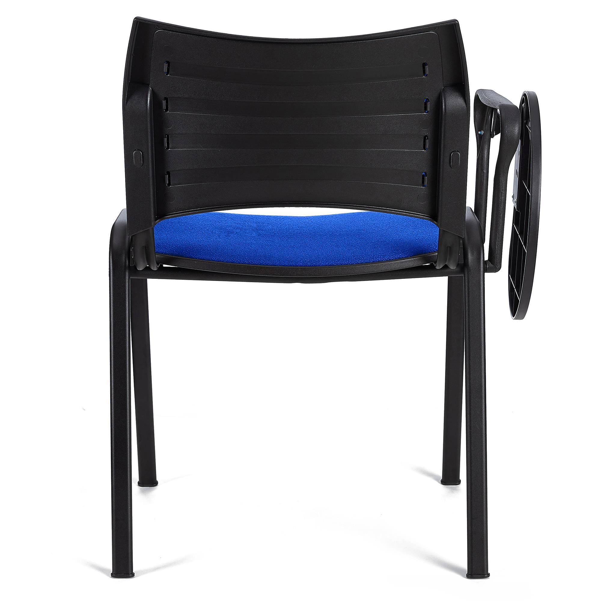 Sedia da Attesa ROMMEL CON SCRITTOIO, in Blu e Gambe Nere - Sedia da ...