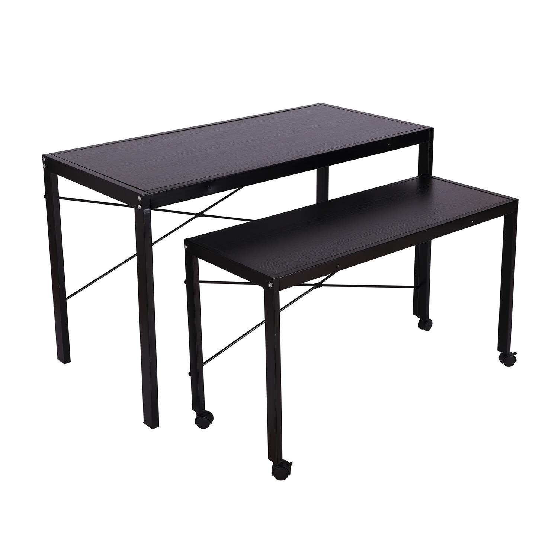 Set di 2 scrivanie da ufficio sebastian in metallo nero for Scrivanie da ufficio