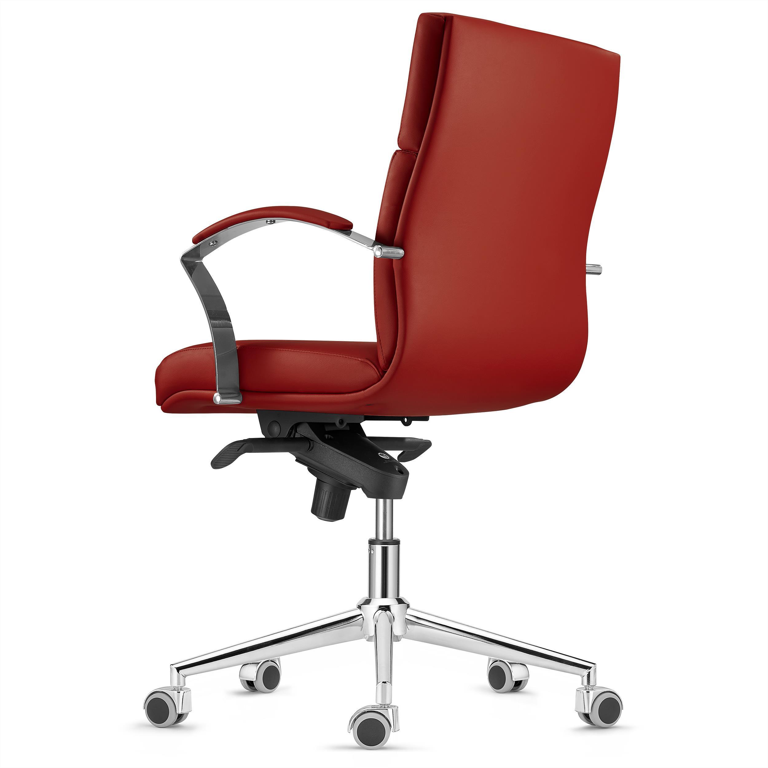 Sedia da ufficio rabat schienale basso qualit e design for Sedia design marrone