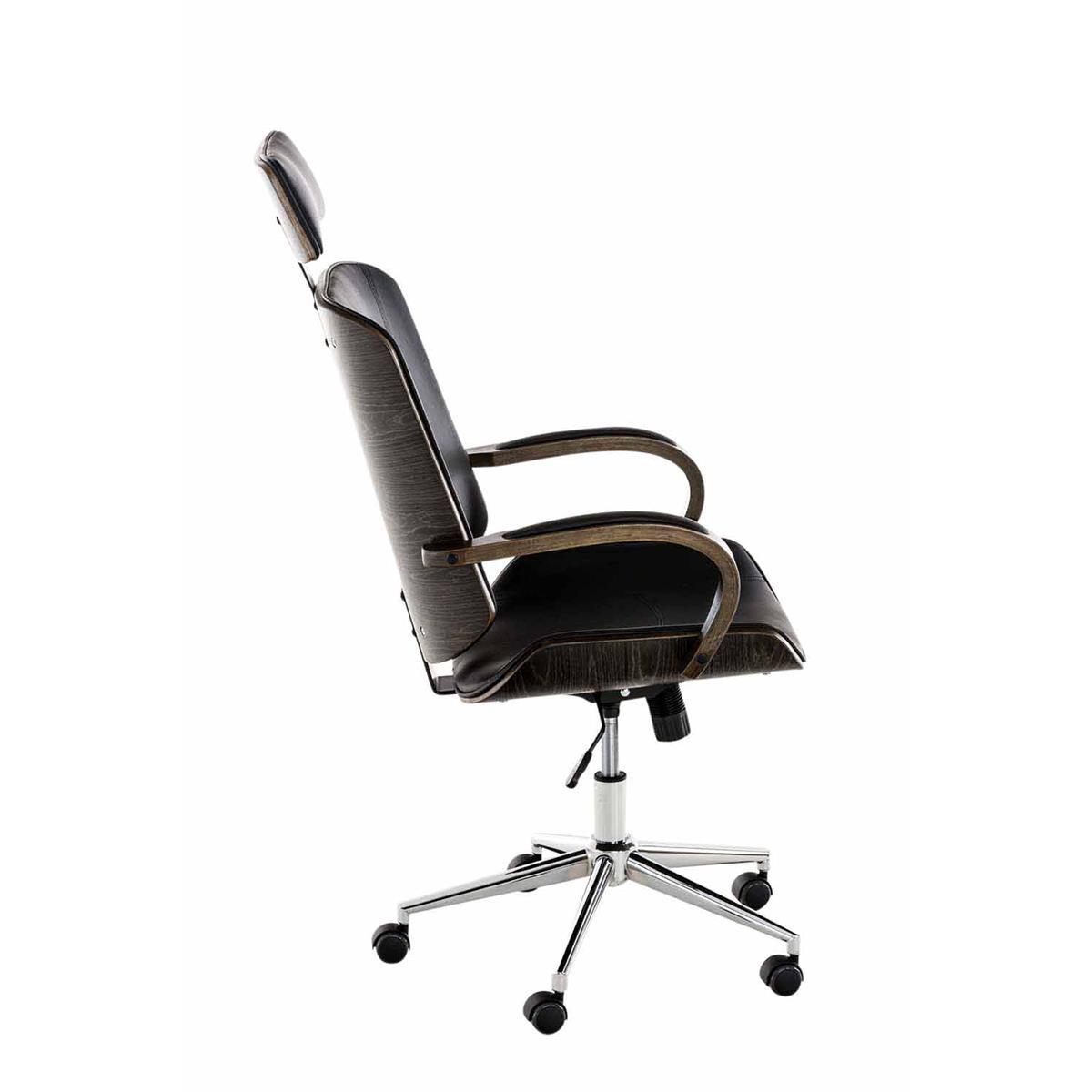 Sedia da ufficio jutta struttura scura in legno seduta for Sedia design ufficio
