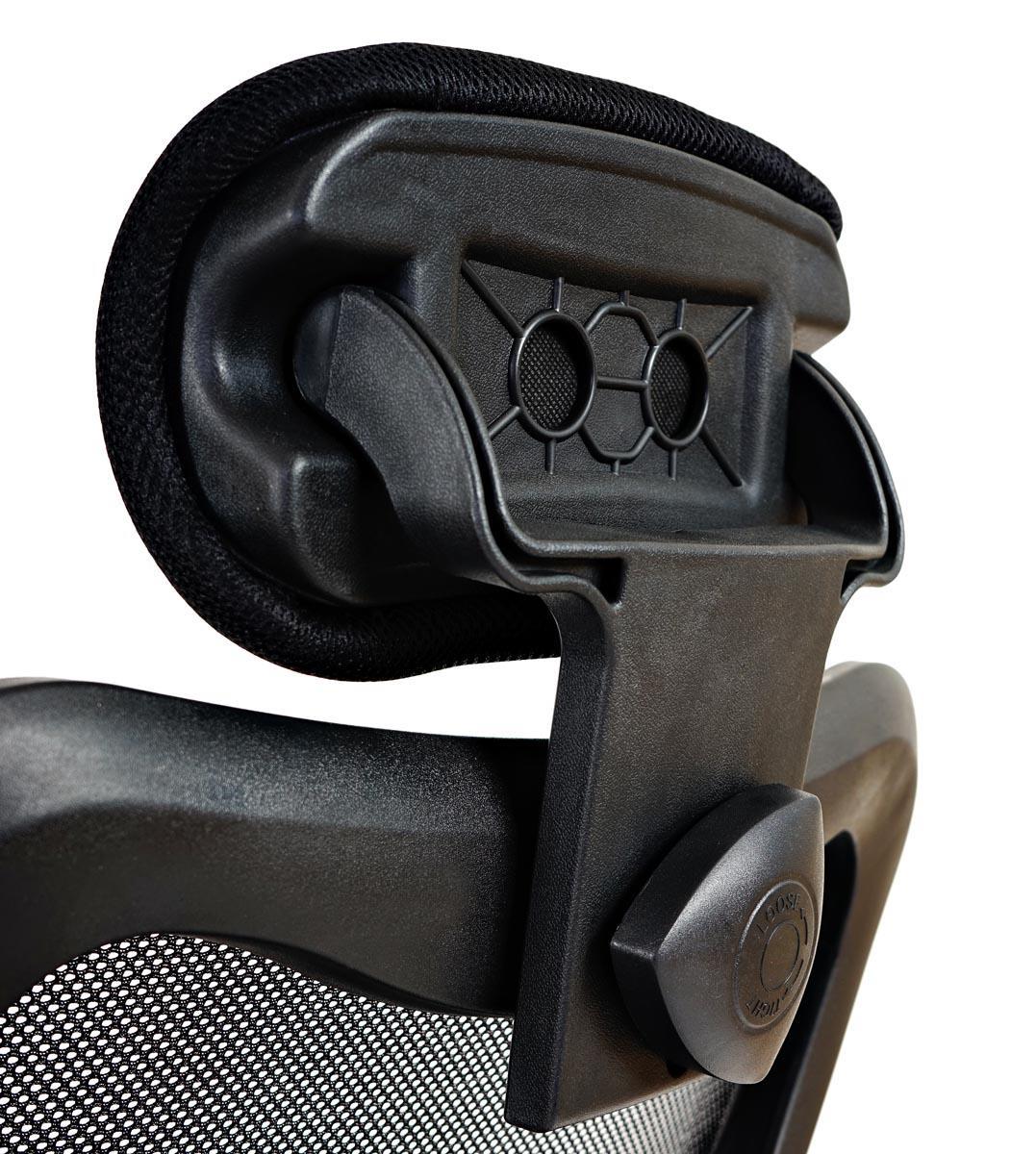 Sedia ergonomica zelia sostegno lombare imbottito base for Sedia ergonomica
