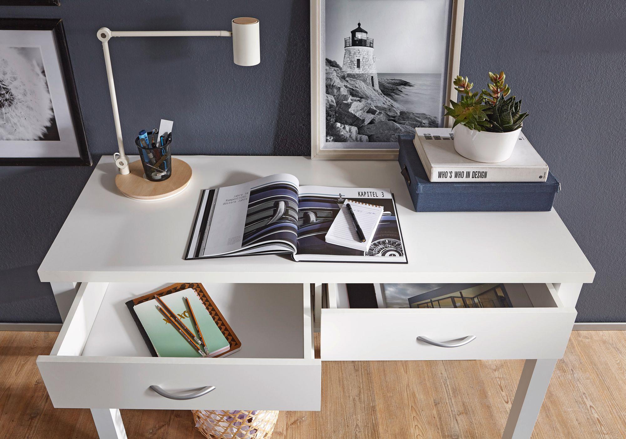 Scrivania Ufficio Misure : Scrivania da studio berkley con due ampi cassetti design classico