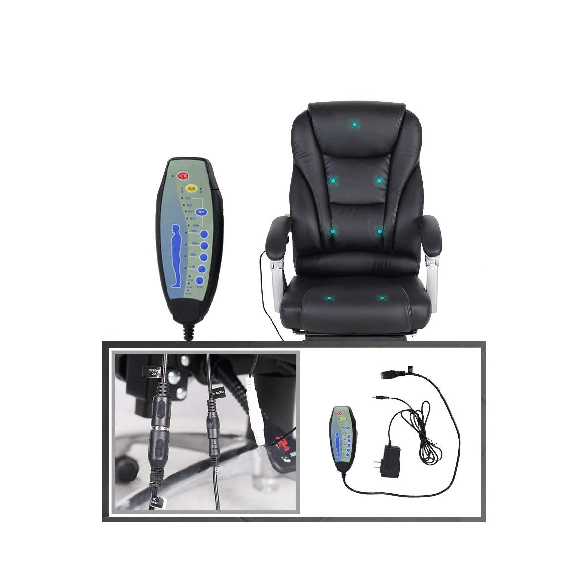 Poltrona Ufficio Massaggio.Poltrona Da Ufficio Comodity Massage Massaggiante Pelle