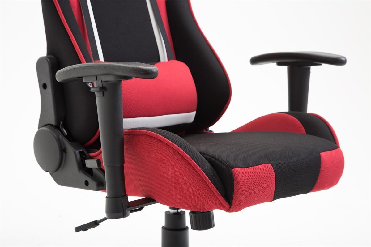 Sedia gaming monza tessuto in nero e rosso for Sedie tessuto design