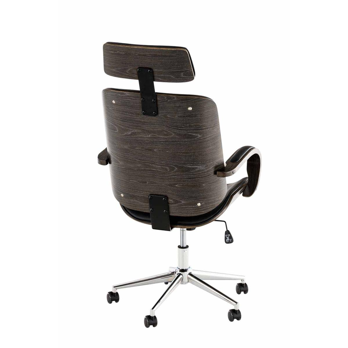 Sedia da ufficio JUTTA, struttura scura in legno, seduta ...
