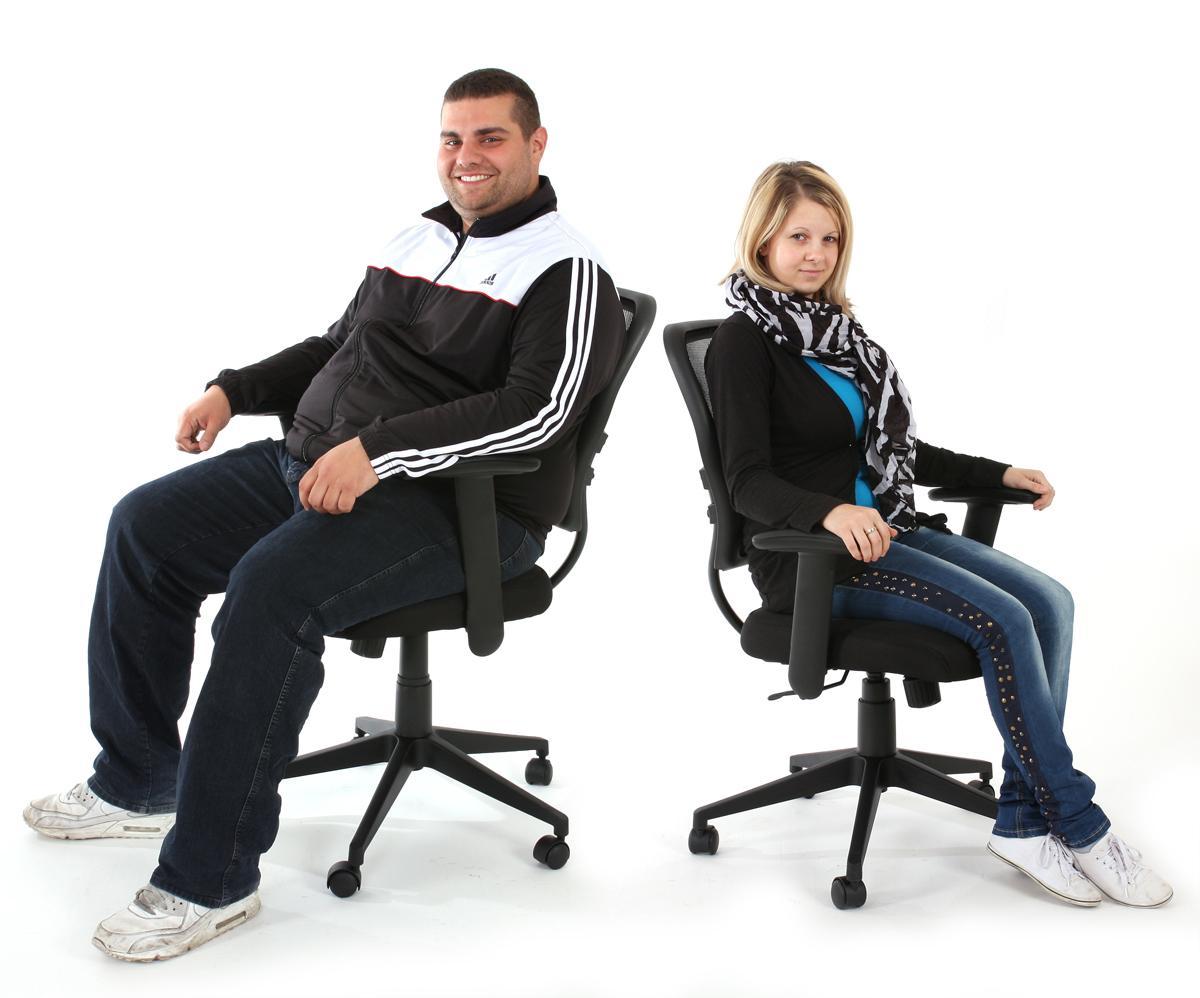 Sedie Ufficio Xxl : Sedia xxl per ufficio modello tenoya base con braccioli con