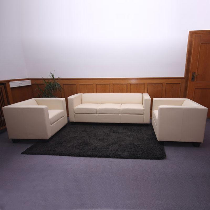 Divano a 3 posti BASILIO, elegante e comodo, in pelle colore ...