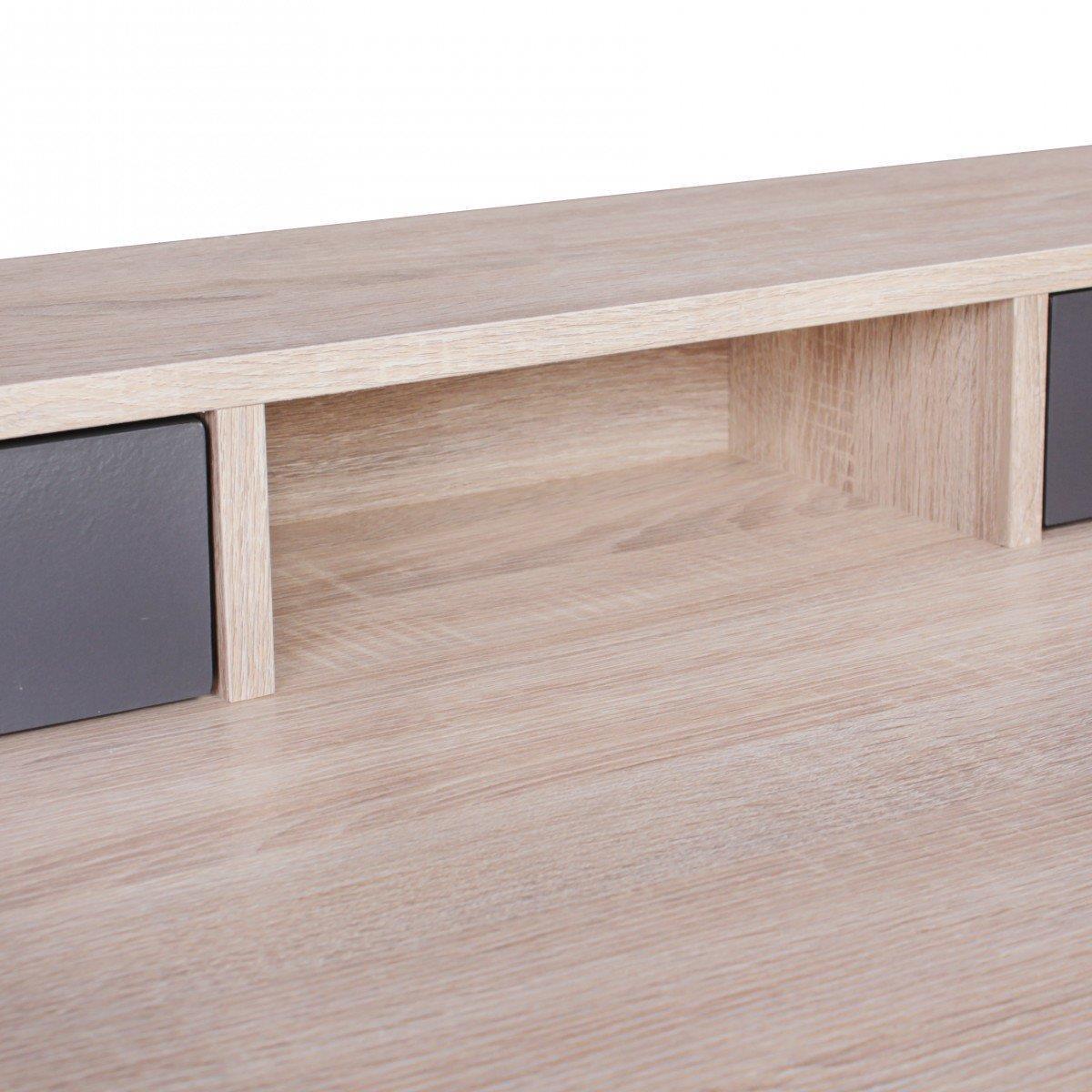 Scrivania per computer MILA, superficie in legno, cm 120x59x86 ...