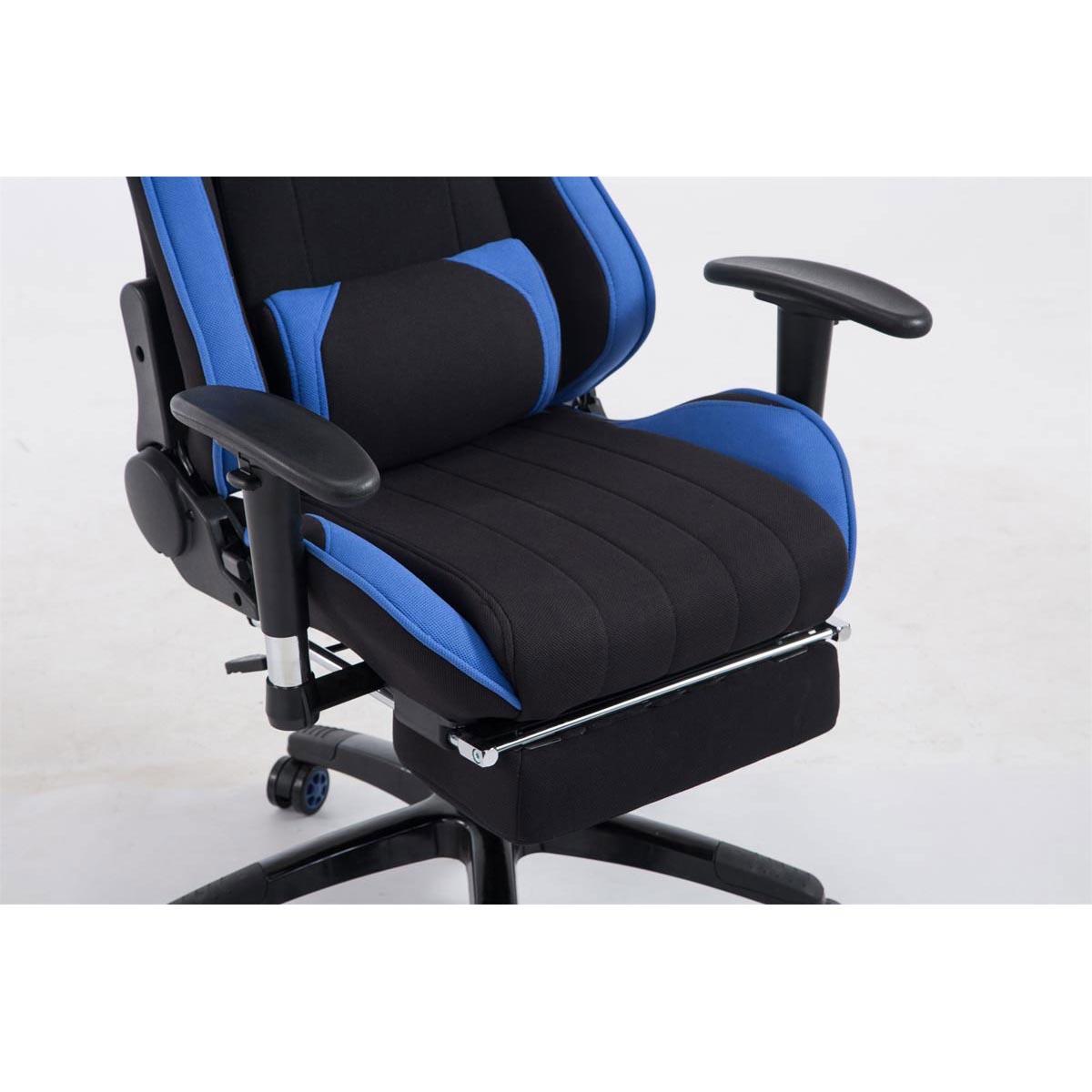 Sedia gaming turbo tessuto con poggiapiedi ampia for Sedia ufficio con poggiapiedi