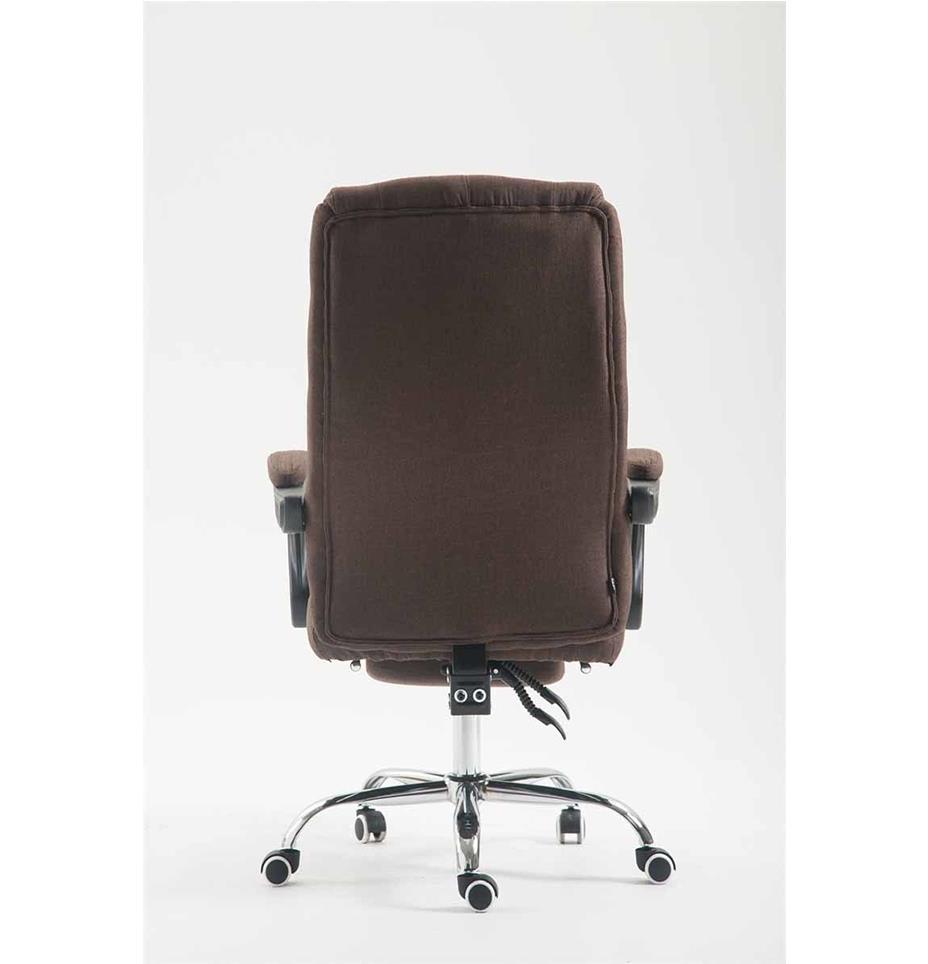 Poltrona ufficio benety tessuto stile chester con for Poltrona ufficio con poggiapiedi