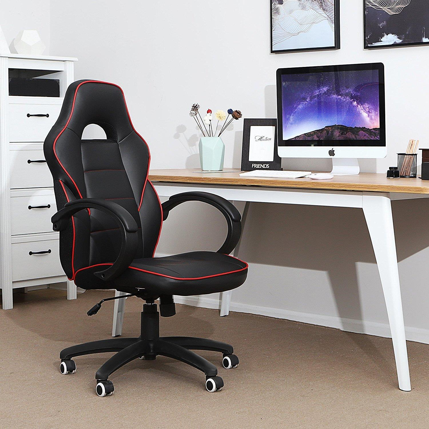 Sedia da ufficio GRETA, Design sportivo, in Pelle color ...