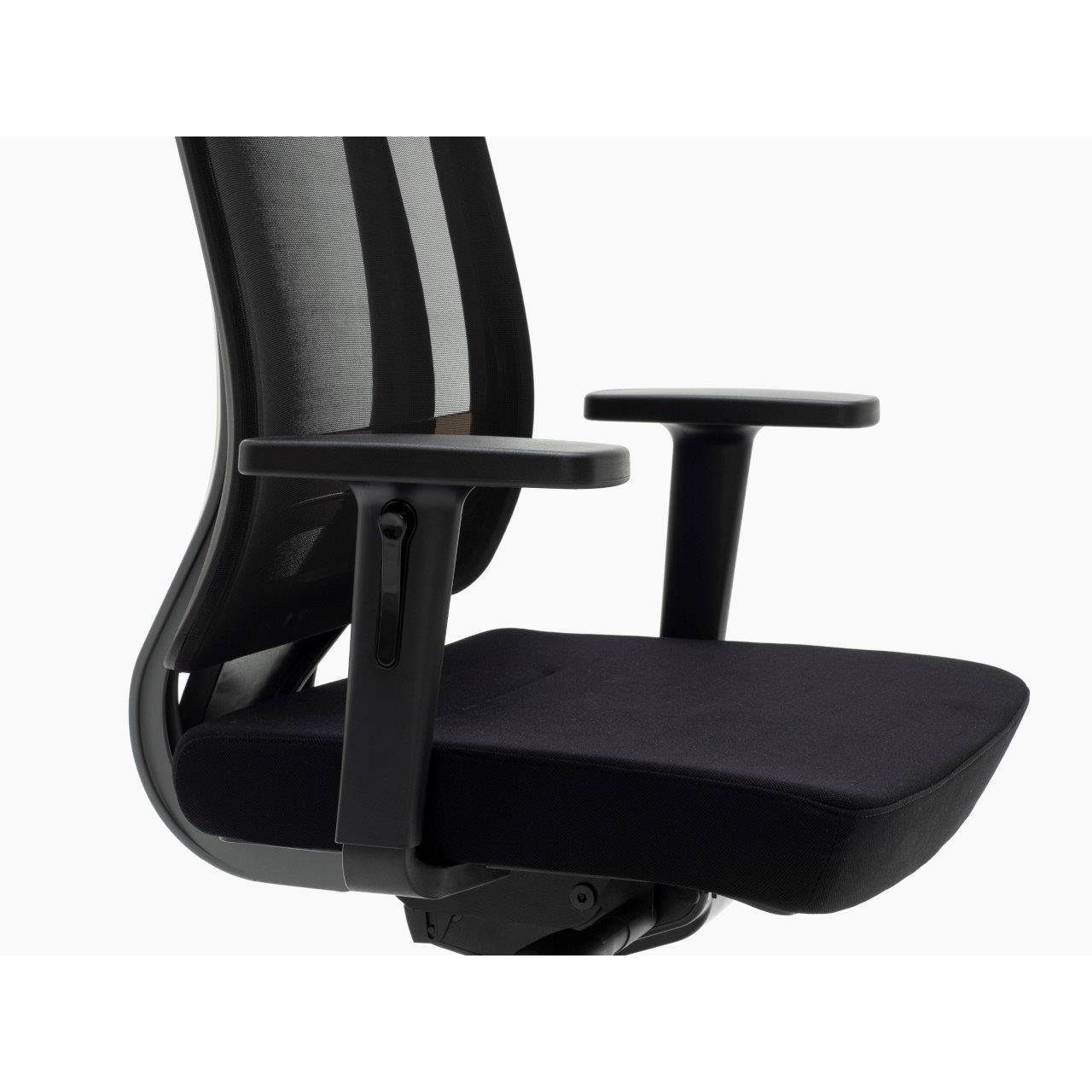 Sedia ergonomica ottawa con supporto lombare base in for Sedia ergonomica