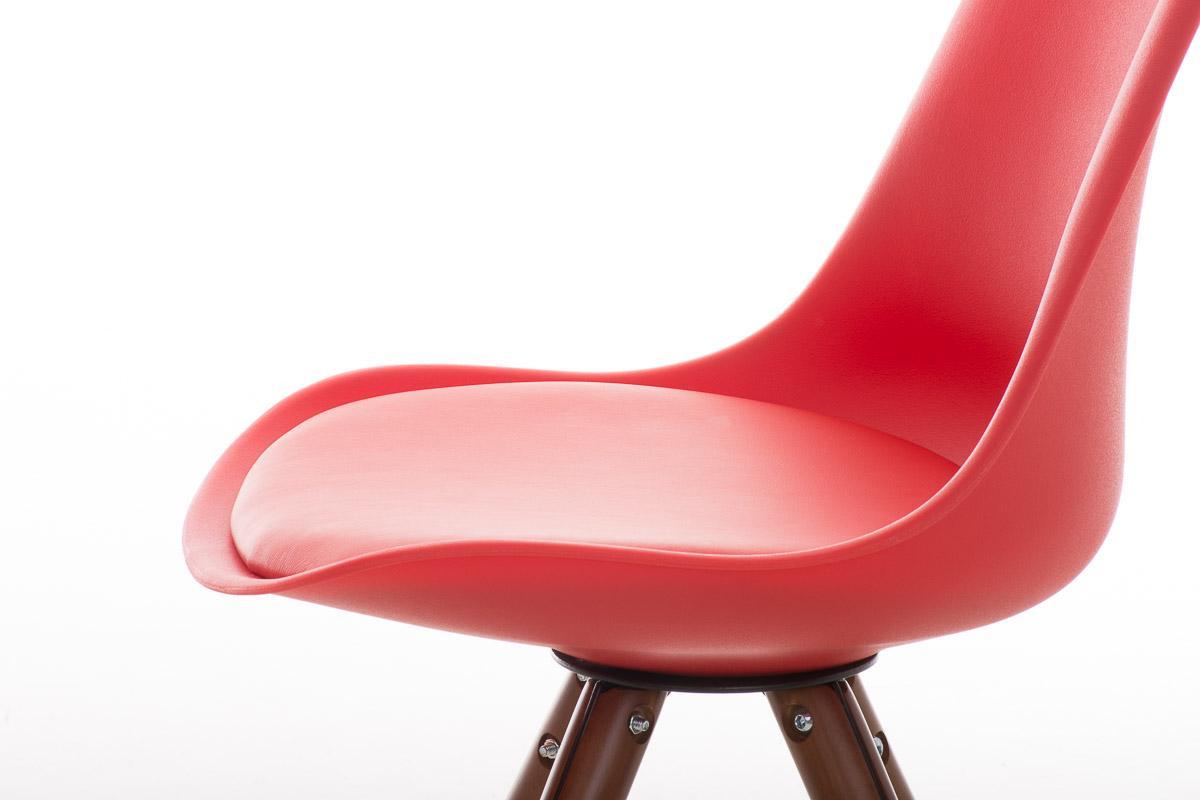 Sedia per ospiti o studio alma noce modello di design con gambe