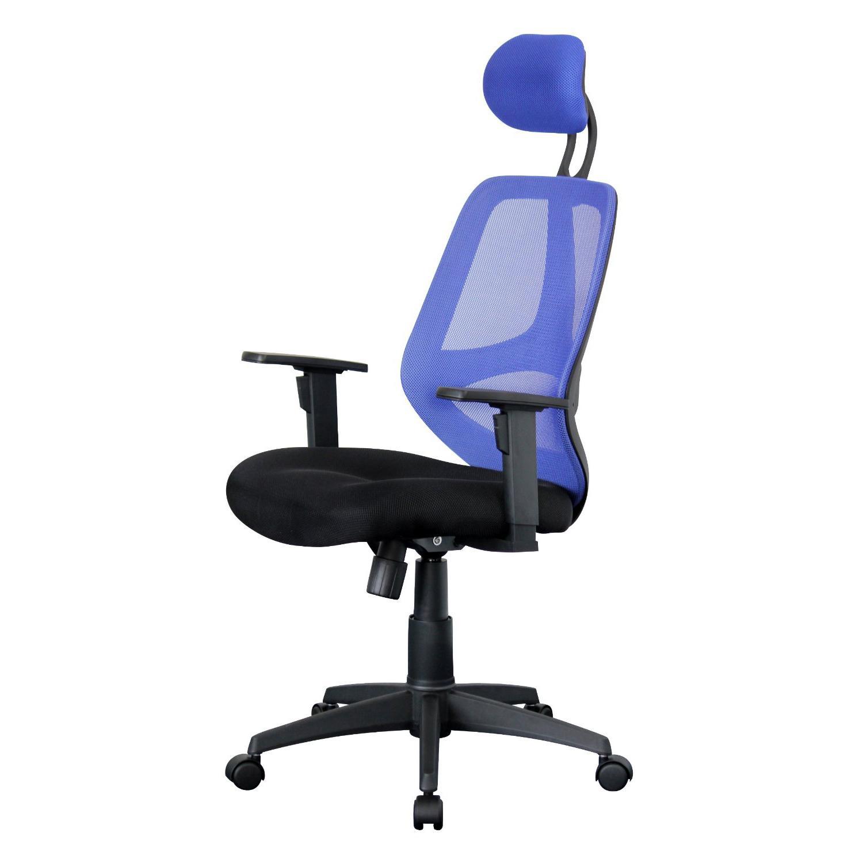 Sedia ergonomica DRAKE con poggiatesta e braccioli ...