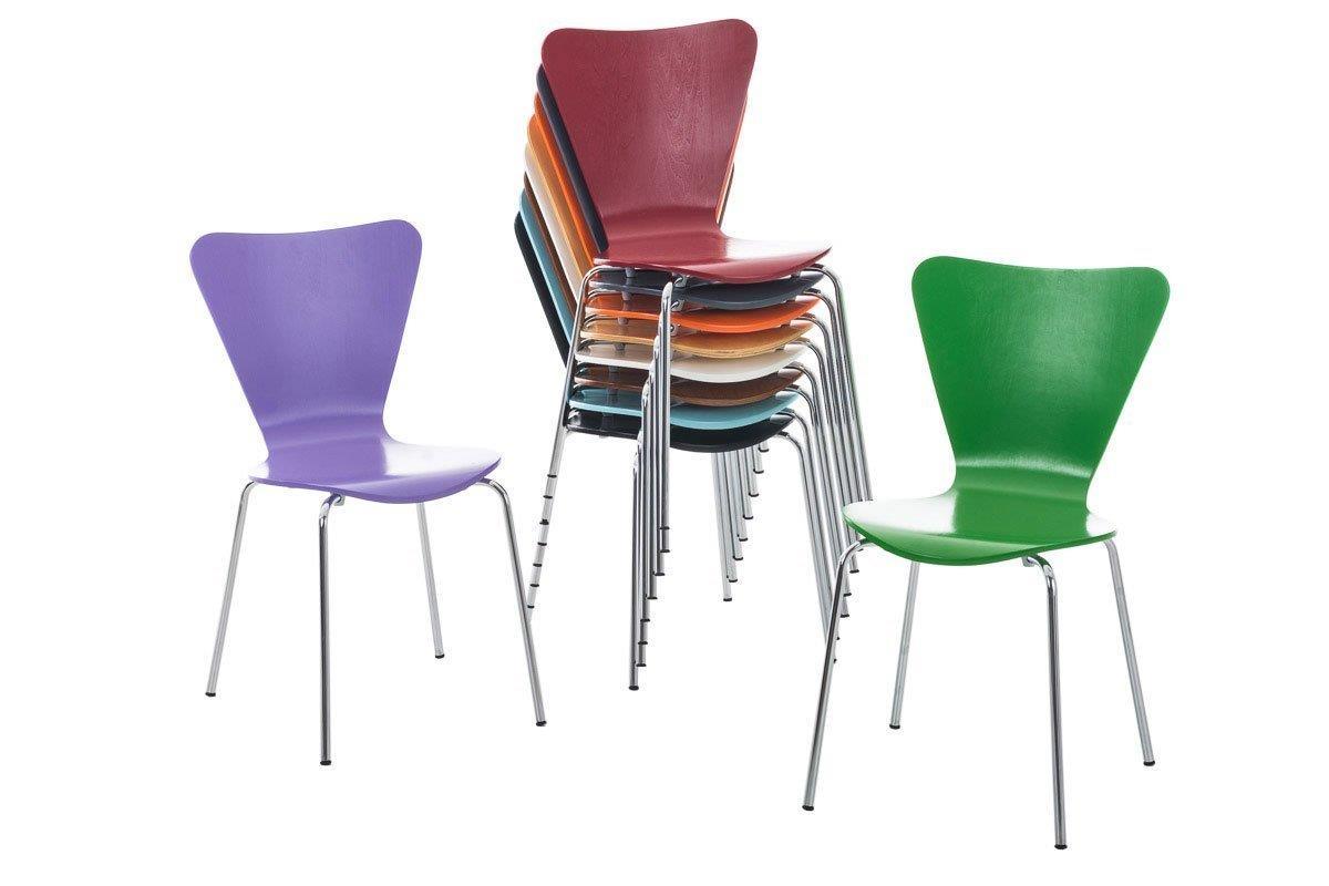 Lotto di 4 sedie sala dattesa hercules in legno e metallo