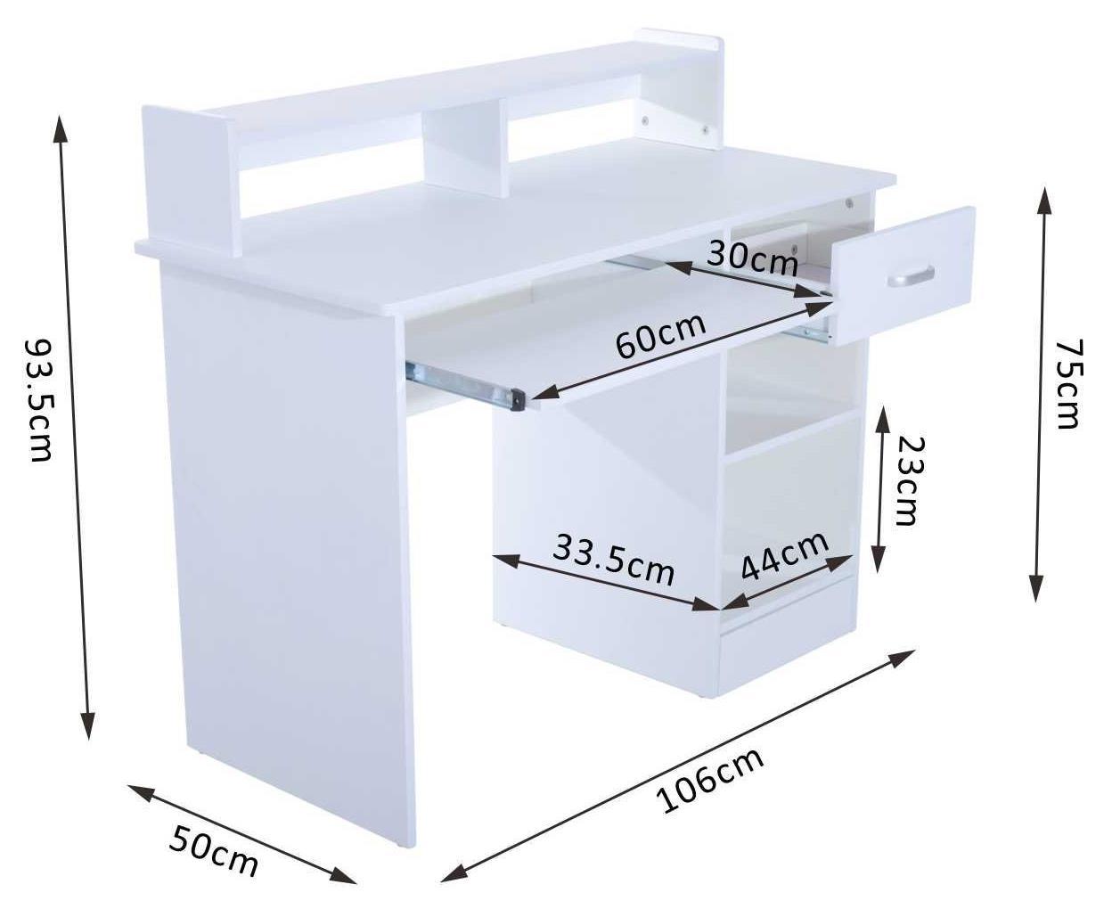 Scrivania In Legno Bianco : Trendyitalia scrivania legno bianco frassino cm