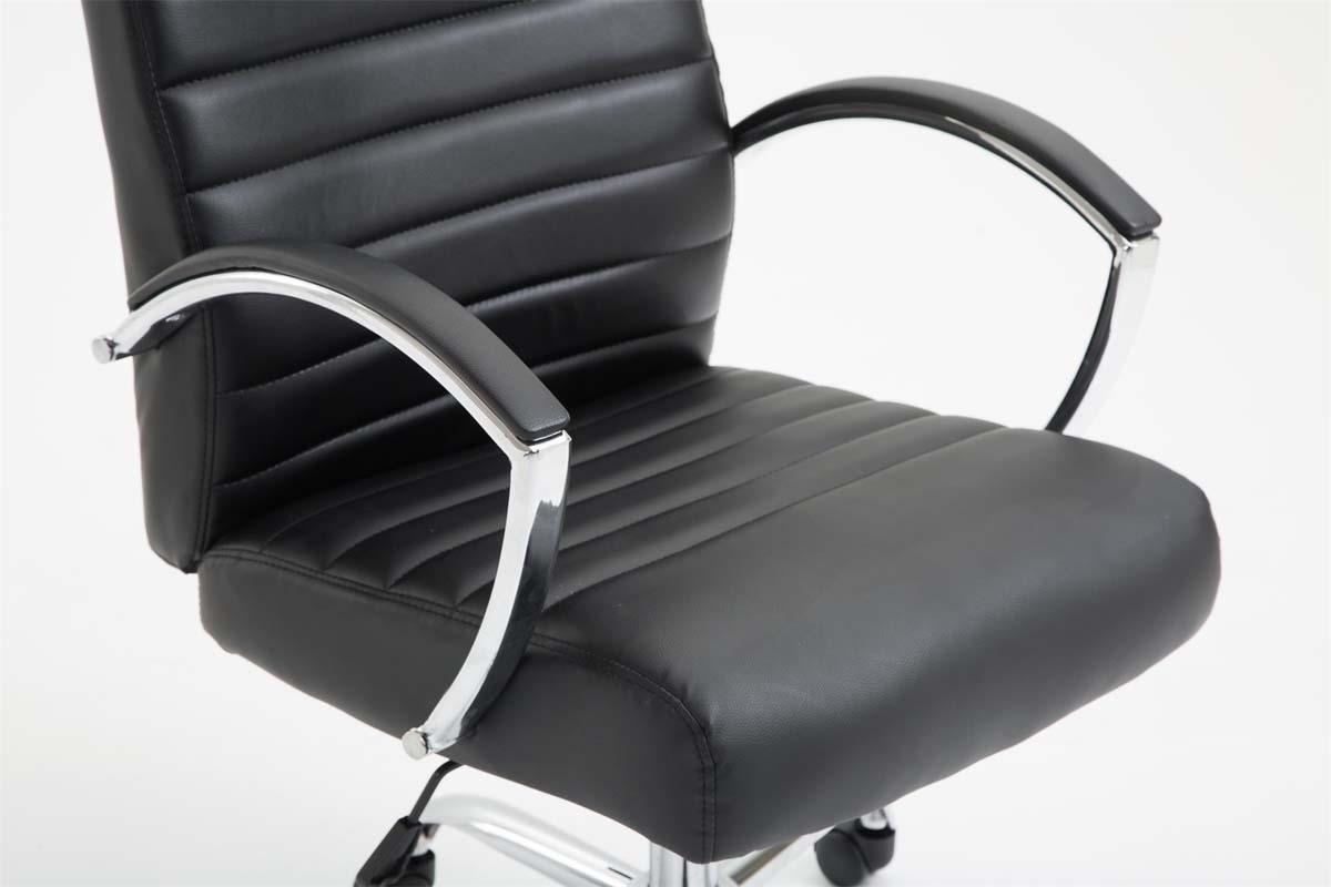Sedie Da Ufficio Per Postura Corretta : Sedia da ufficio vancouver in pelle color nero sedia da ufficio