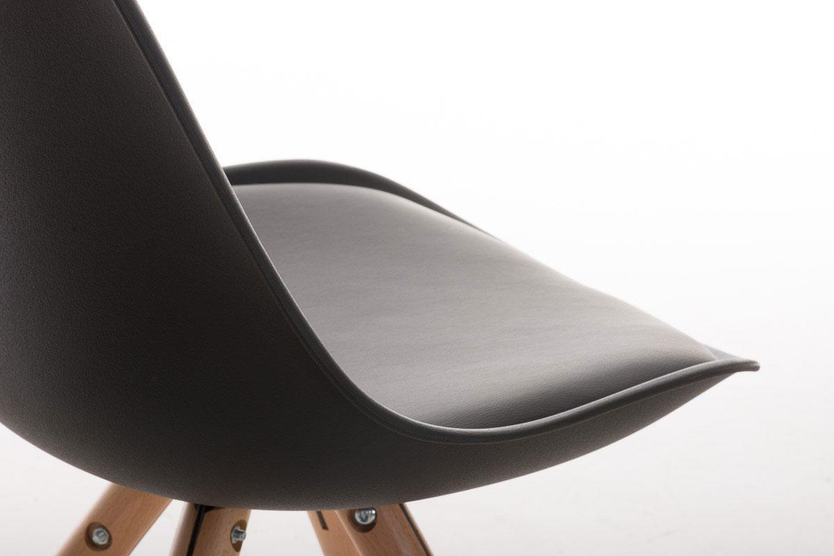Sedia per ospiti o studio alma modello di design con gambe in