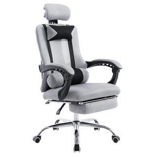 Poltrona Gaming ANTARES, reclinabile in varie posizioni, poggiapiedi allungabile, tessuto traspirante, in