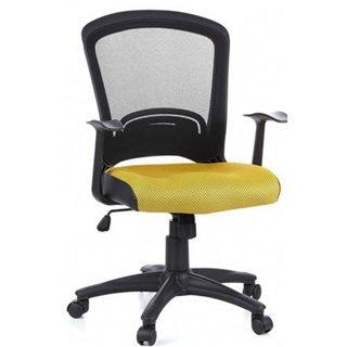 Sedia ufficio LABITA, omologata 8h, Traspirante, in nero e arancio ...
