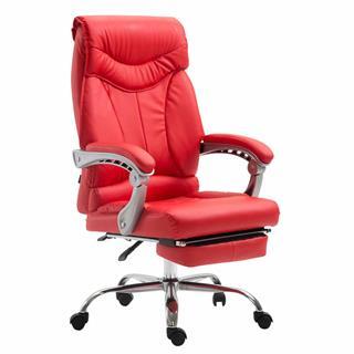 Poltrona ufficio OREGON, Design e Comfort, Poggiapiedi Estensibile, in Pelle NeraPoltrona ufficio OREGON,