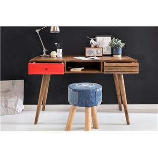 Scrivania REPANG, Design nordico, 120x60x75cm, Legno, dettaglio Rosso