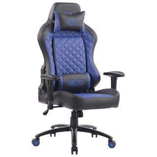 Sedia Gaming MAXIM, Design Esclusivo, Confortevole, Pelle, Blu