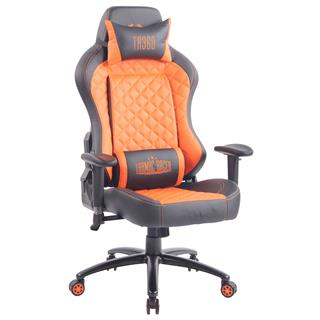 Sedia Gaming MAXIM, Design Esclusivo, Confortevole, Pelle, Arancione