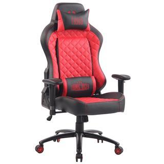 Sedia Gaming MAXIM, Design Esclusivo, Confortevole, Pelle, Rosso