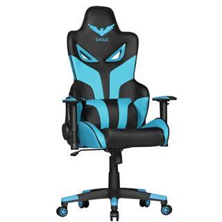 Sedia Gaming ADAM, Design Esclusivo, in Pelle Azzurra e Nera