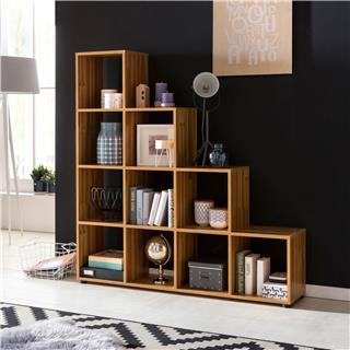 Libreria KIOTO, Design Moderno, in Legno, 145x139 cm, Vari Ripiani, Faggio
