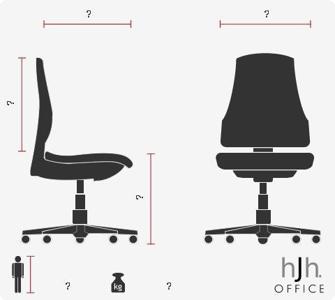 Poltrona da ufficio PALERMO 10, Design e comodità, XXL, Uso 8h, in Pelle sintetica colore Nero