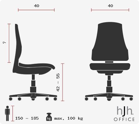 Sedia SITNESS 20, Sedile ergonomico, sistema Body Balance, marchio Topstar, qualità LGA, colore Rosso