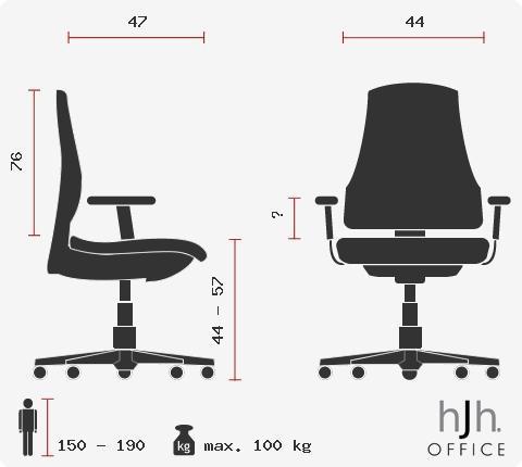 Sedia per Ufficio MONTECARLO, Design Sportivo, Omologata 8 Ore, in Rosso
