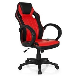 Sedia Gaming RACER GAMING PRO, Design Sportivo con Cuciture a vista, Prezzo Incredibile, in Pelle color Nero/Rosso