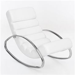 Chaise long MARILYN, Design Moderno ed Elegante, in Pelle, Bianco